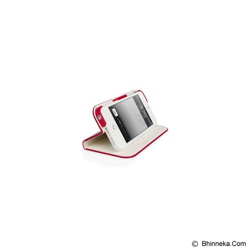 MACALLY iPhone 5 Slim Cover 5 Case [SLIMCOVER5R] - Red White - Casing Handphone / Case